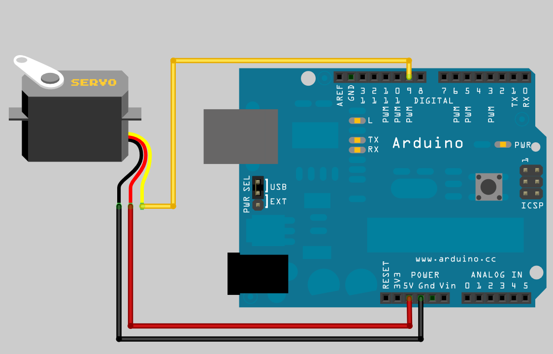Connecting the laser driver to the arduino